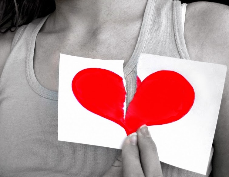 imagen de corazón roto