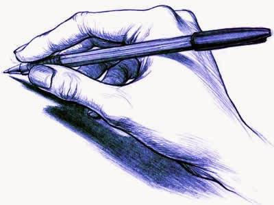 dibujo mano escribiendo