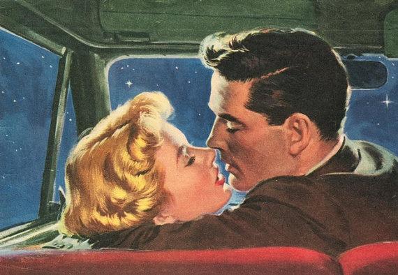 beso en coche